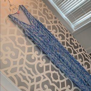 Lilly Pulitzer Knit Leaf Print Jumpsuit XS